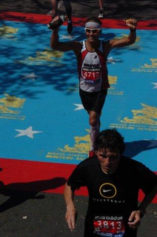 Boston Marathon - Halfway