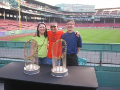 Boston Marathon - Red Sox WS Trophies
