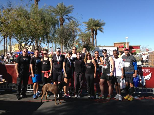 ONE at Phoenix Marathon. Great job to all!