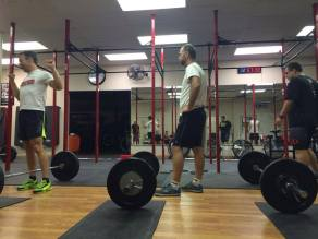 Jimbo getting ready to clean and jerk
